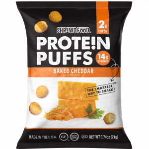 protein puff baked cheddar